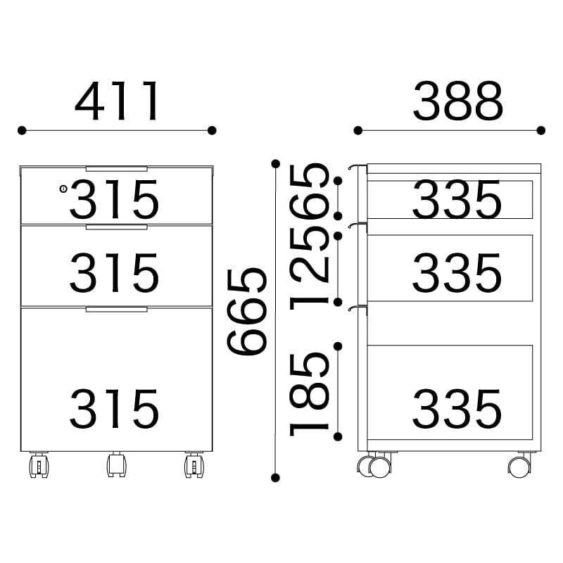 小島工芸 ワゴン JD−B(チェリーナチュラル)