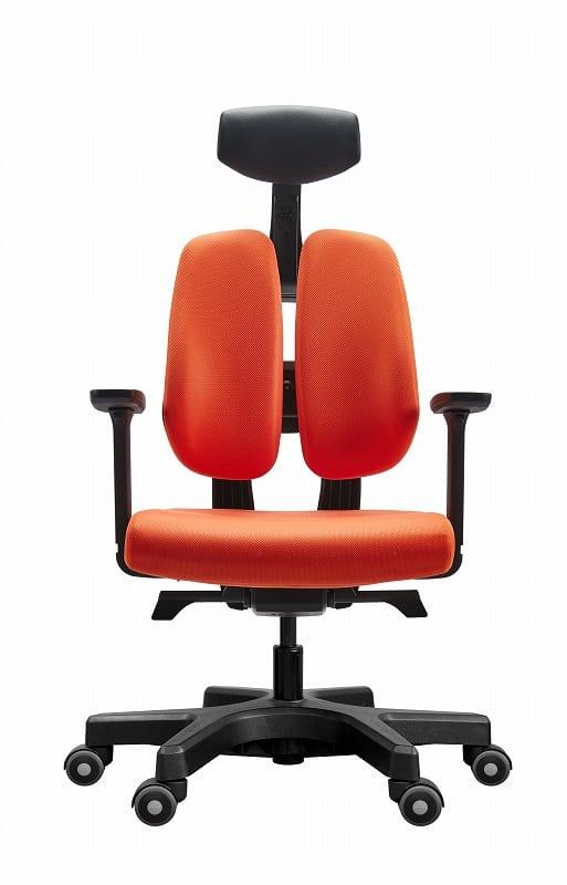 デスクチェア デュオレスト D100 OR オレンジ:腰への負担軽減をサポートするデスクチェア