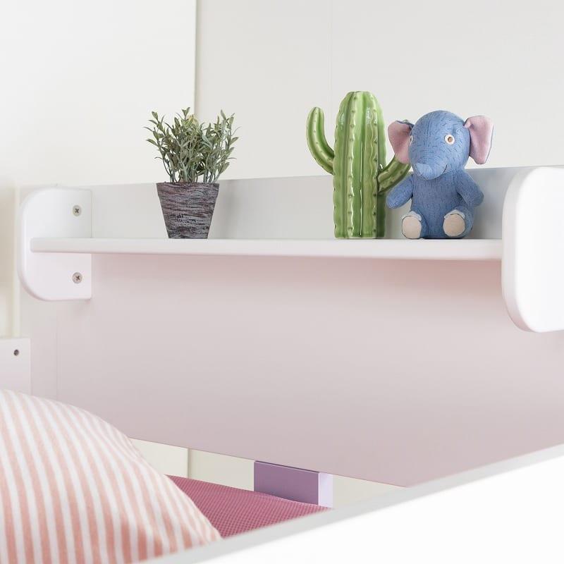 【シマホ限定】システムベッド キュートガール SB−SU19W:小物が置ける小棚付き