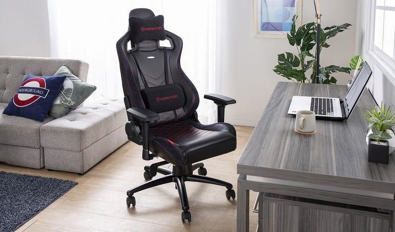 ゲーミングチェア ノーブルチェア EPIC NBLーPUーRBDー003 レッド:クールなデザインと座り心地