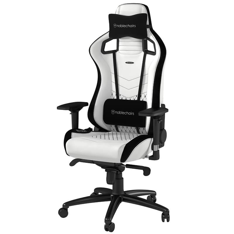 ゲーミングチェア ノーブルチェア EPIC NBLーPUーWHTー002 ホワイト:クールなデザインと座り心地