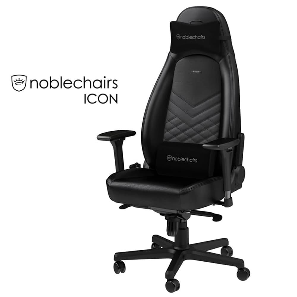 ゲーミングチェア ノーブルチェア ICON NBL−ICN−PU−BLA−SGL ブラック:クールなデザインと座り心地