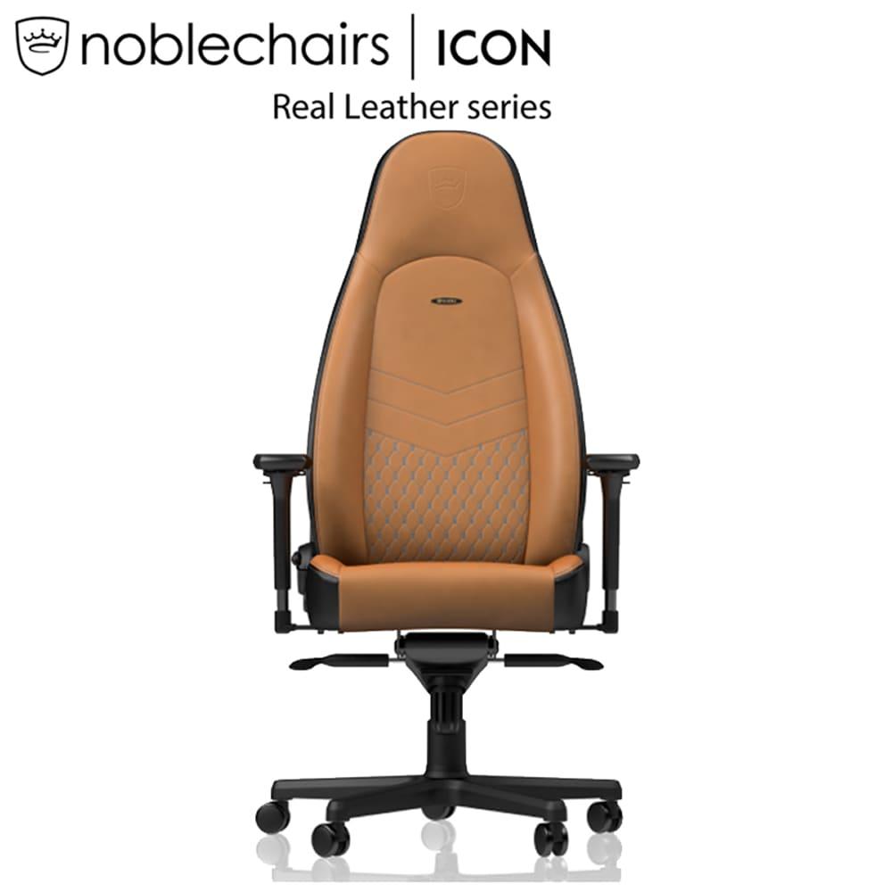 ゲーミングチェア ノーブルチェア ICON NBL−ICN−RL−CBK−SGL コニャック:クールなデザインと座り心地