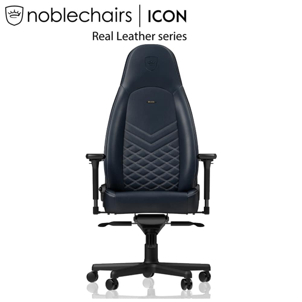 ゲーミングチェア ノーブルチェア ICON NBL−ICN−RL−MBG−SGL ミッドナイトブルー:クールなデザインと座り心地