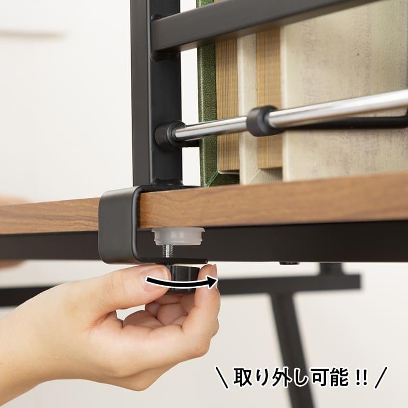 デスクスマート デスクブラウン:本棚は取り外し可能!