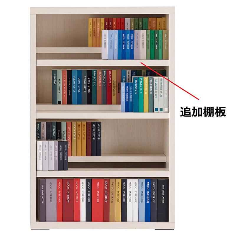コミックシェルフ 追加棚板 CBS−76L用棚板 ホワイトウッド:コミックシェルフ 追加棚板