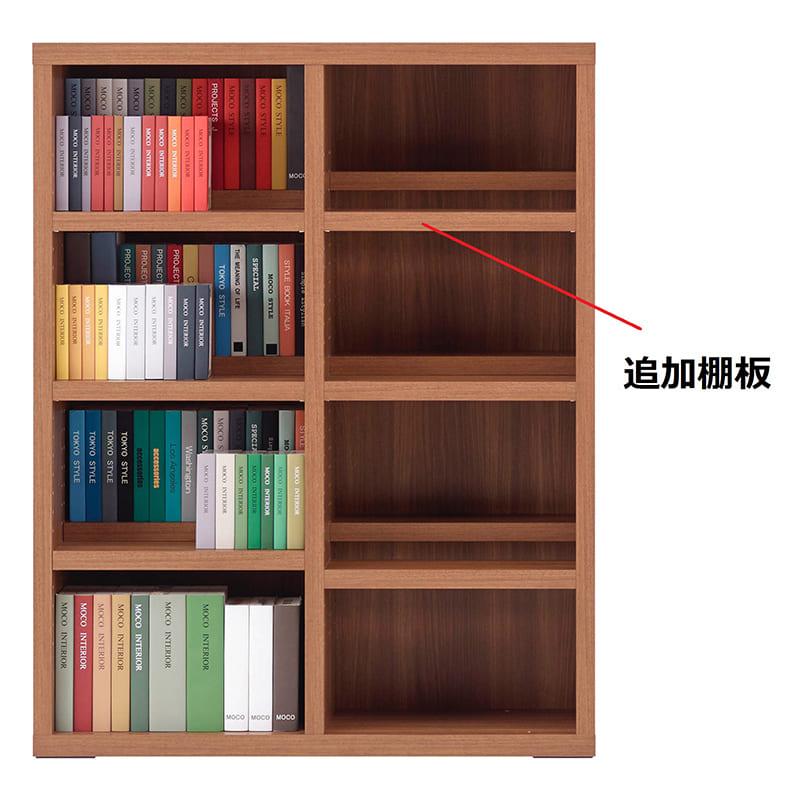 コミックシェルフ 追加棚板 CBD−91L用棚板 ウォールナット:コミックシェルフ 追加棚板