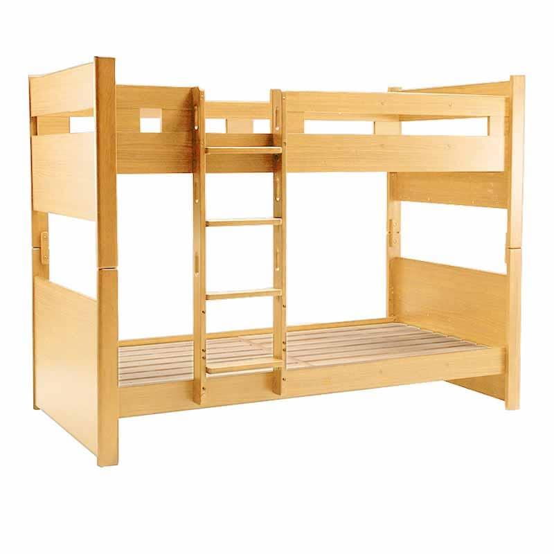 2段ベッド カスティナ�V 固定ハシゴ NT:《お子様にやさしいこだわりの設計で仕上げた二段ベッド》