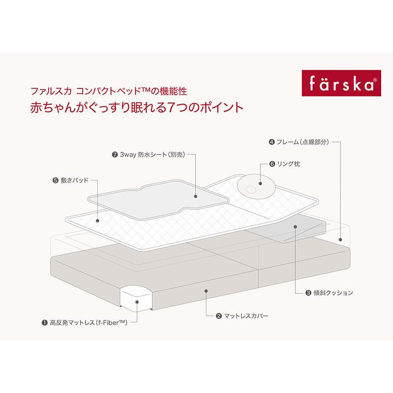 ファルスカ(farska)コンパクトベッドフィット(8点セット)ベージュ