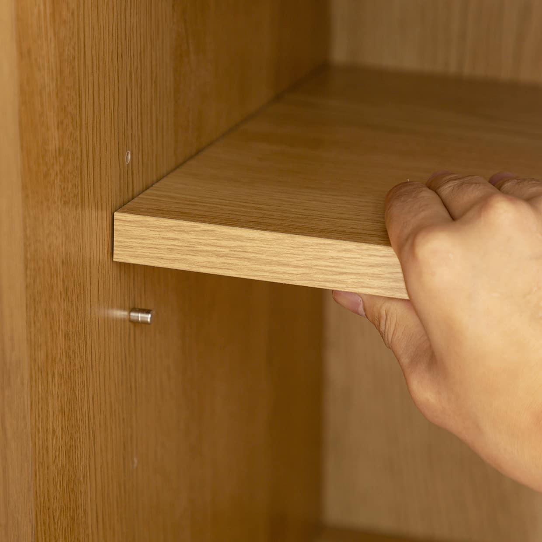:棚板は高さ調節可能