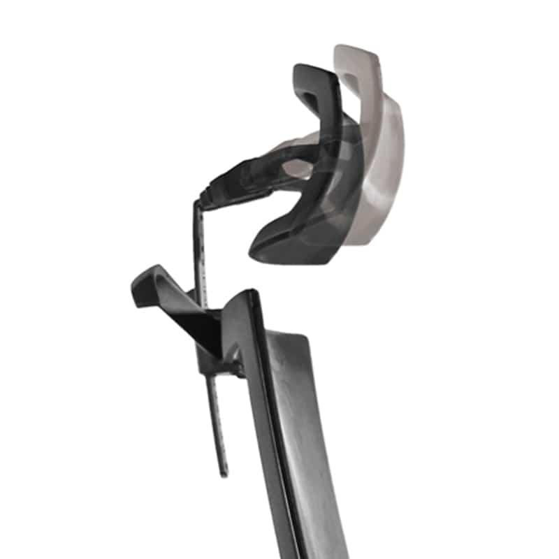 デスクチェア Air01 ヘッドWH/ハンガー有/背BK/肘固定/座GY/ベース樹脂