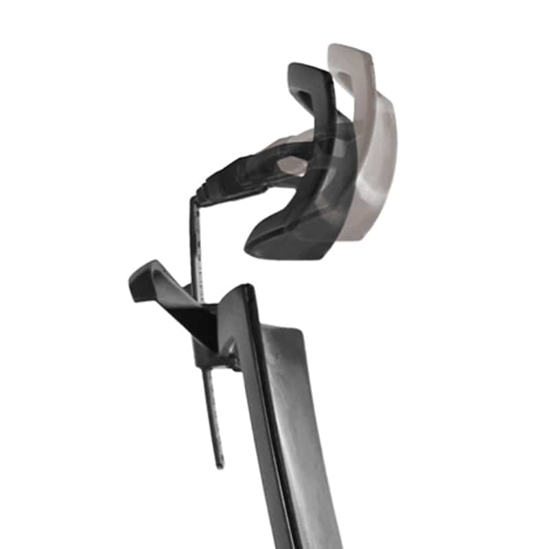 デスクチェア Air01 ヘッドBK/ハンガー無/背WH/肘固定/座GN/ベースアルミ