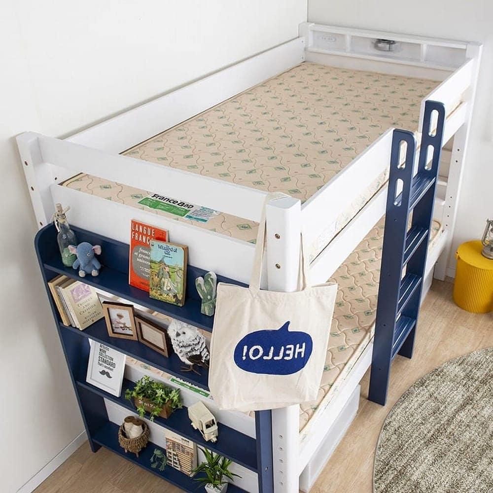 2段ベッド ストラ WH/GR(ホワイト/ウォームグレー):お子様の成長に合わせて分けて使うこともできる