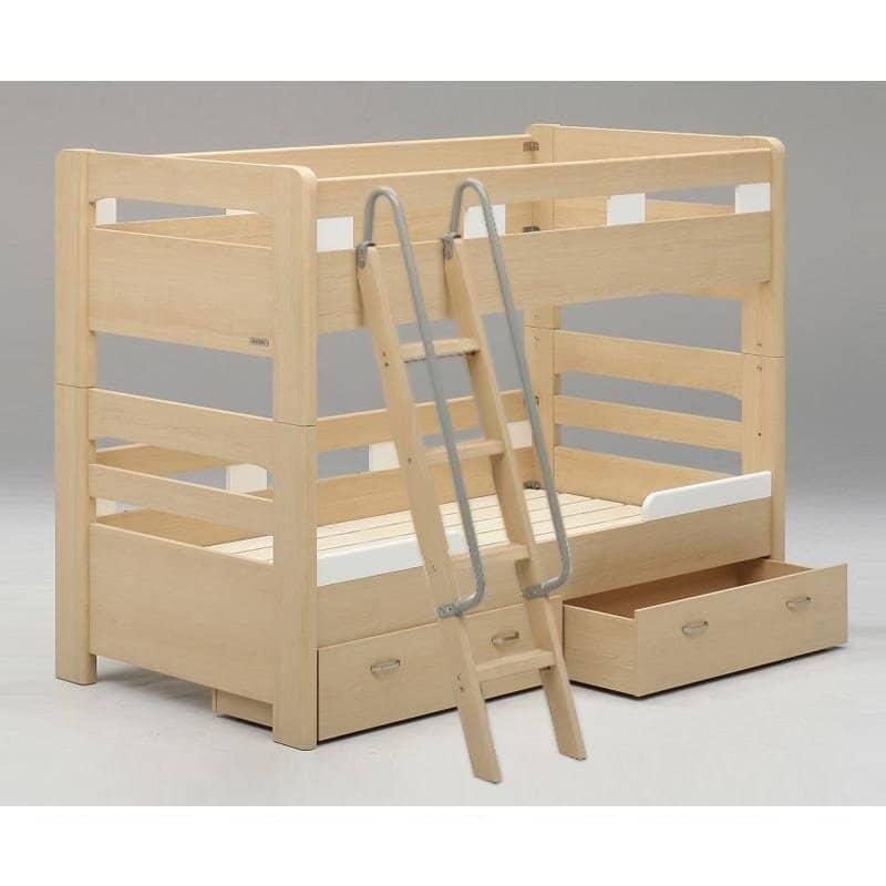 2段ベッド NEW ラキッズ フラット 引付 ナチュラル