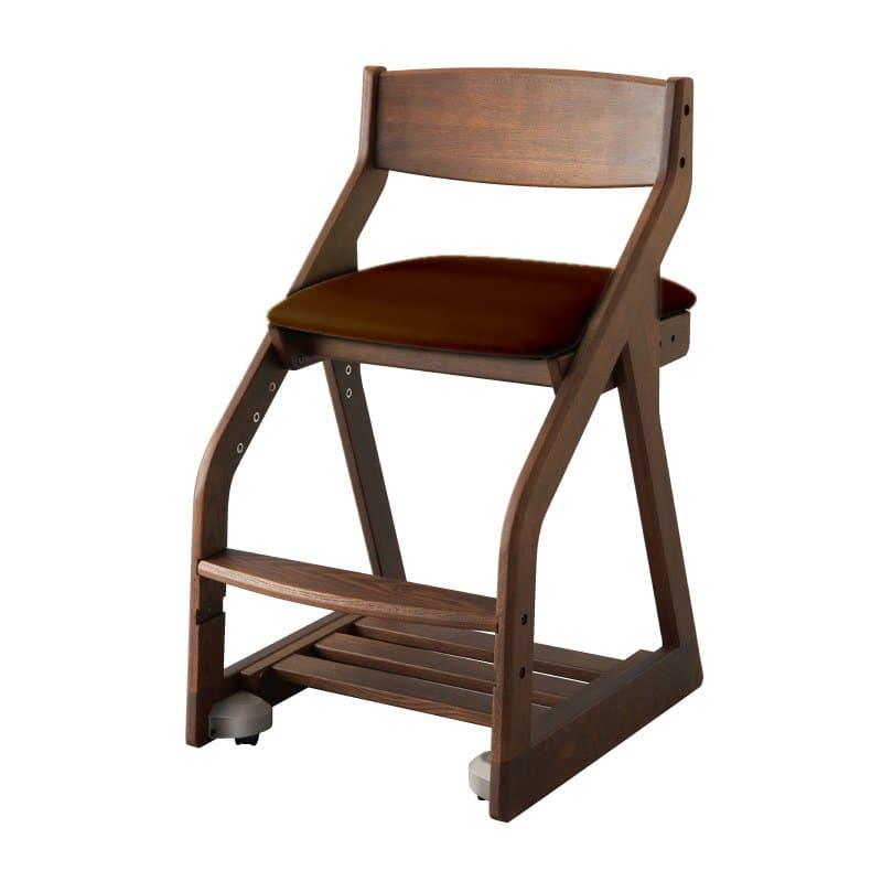 コイズミ 木製チェア ビーノ BDC−40 WTMB(ブラウン):タモの無垢材を使用した天然木ならではのぬくもりを感じられるチェです。