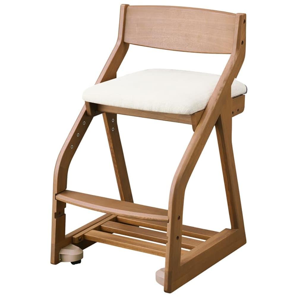 コイズミ 木製チェア ファリス FLC−399 WOIV(アイボリー):タモのハギ材を使用。天然木ならではのぬくもりをしっかりと感じられます