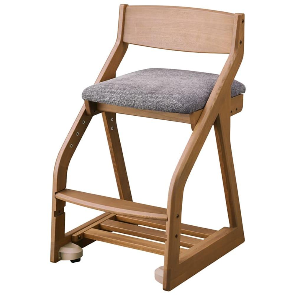 コイズミ 木製チェア ファリス FLC−400 WOGY(グレー):タモのハギ材を使用。天然木ならではのぬくもりをしっかりと感じられます