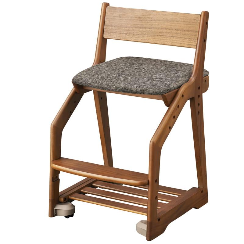 コイズミ 木製チェア ペグ PDC−488 WOGY(グレー):高級家具や高級楽器などに使用される木材「マホガニー」を使用したチェアです。