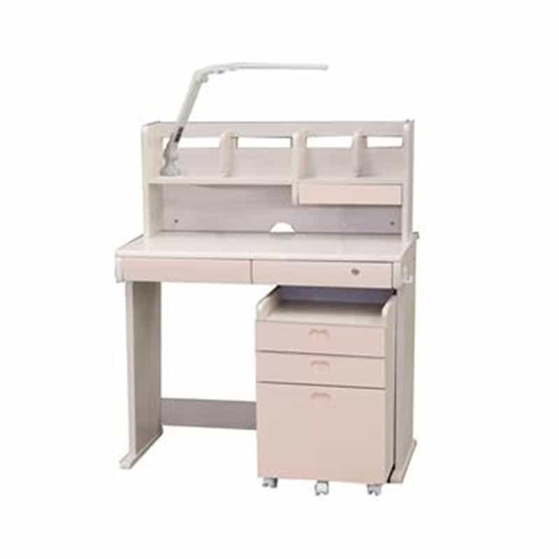棚付きデスク ESシリーズ MR−519 WW−PI(ホワイトウォッシュ・ピンク)