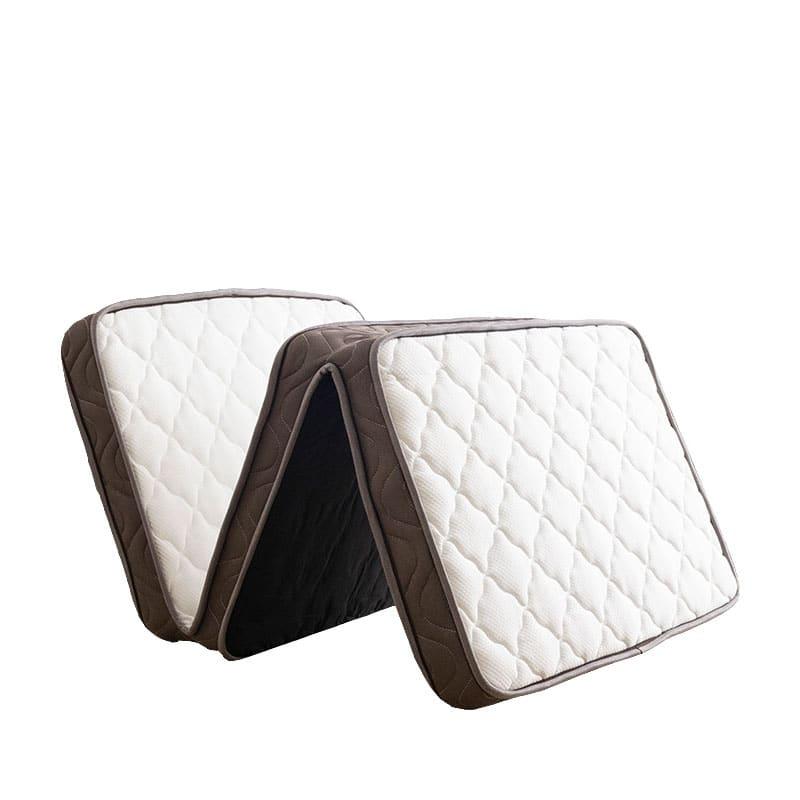 薄型マットレス 薄型三つ折りポケットマットレス:表地には手触りが良く伸縮性に優れたニット地を採用