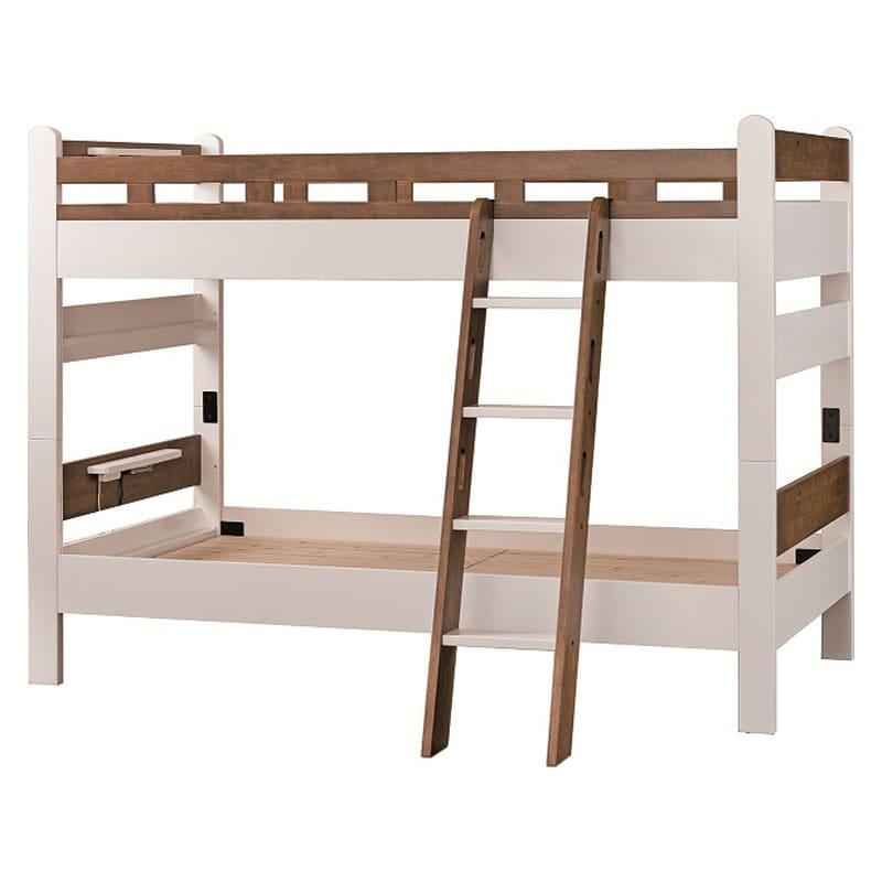 【ネット限定】二段ベッド Nエリア ホワイトモカ