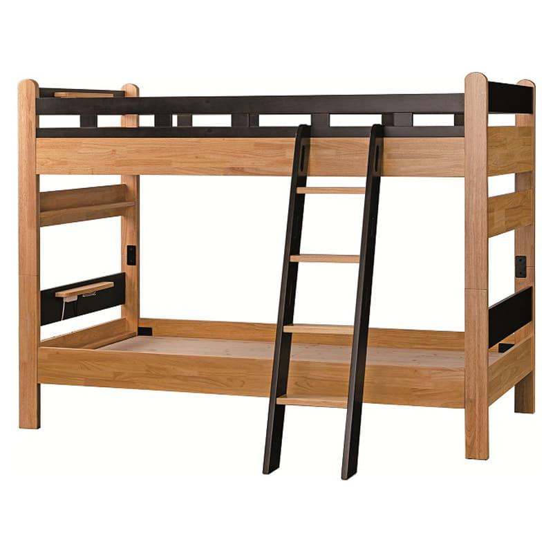 【ネット限定】二段ベッド Nエリア ライトウェンジ:F☆☆☆☆の2段ベッド