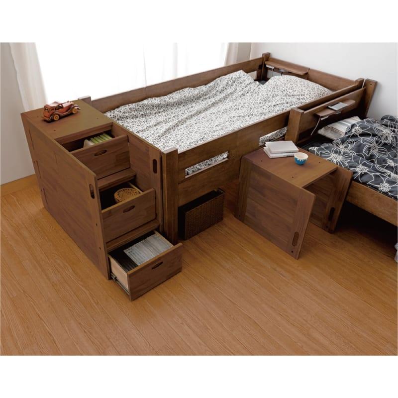 【ネット限定】システムベッド マイスター ステップ(階段式) チェリーナチュラル