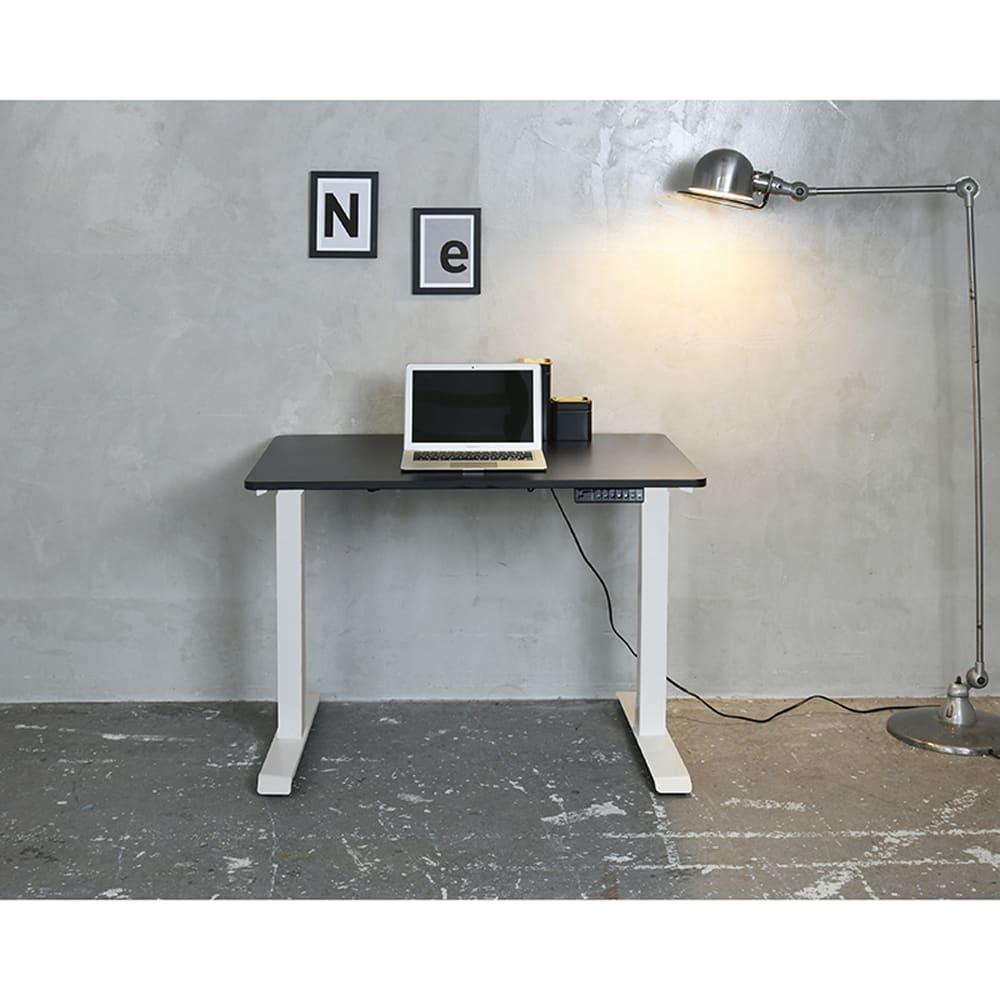 電動昇降デスク【セット】 ELD−T1000(WH)/FS(MBK):《電動昇降デスク》