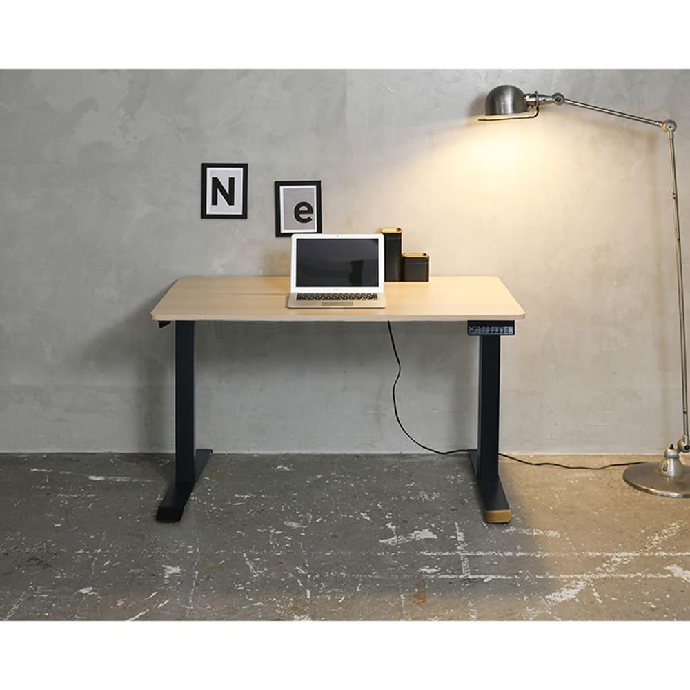 電動昇降デスク【セット】 ELD−T1200(WN)/FS(MBK):《電動昇降デスク》