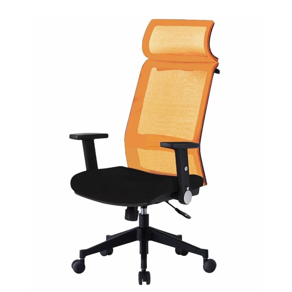 デスクチェア JGグランデ JGG−6025 OR:高身長のお客様でもフィットしやすい大型ヘッドレスト