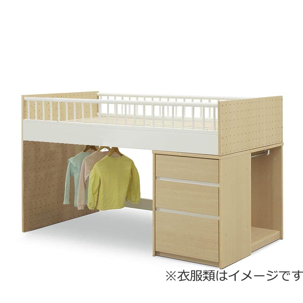 システムベッド ステップス(STEP'S)システムベッド:ワードとチェストの入れ替えが可能。ワードは内向きにも設置できます。