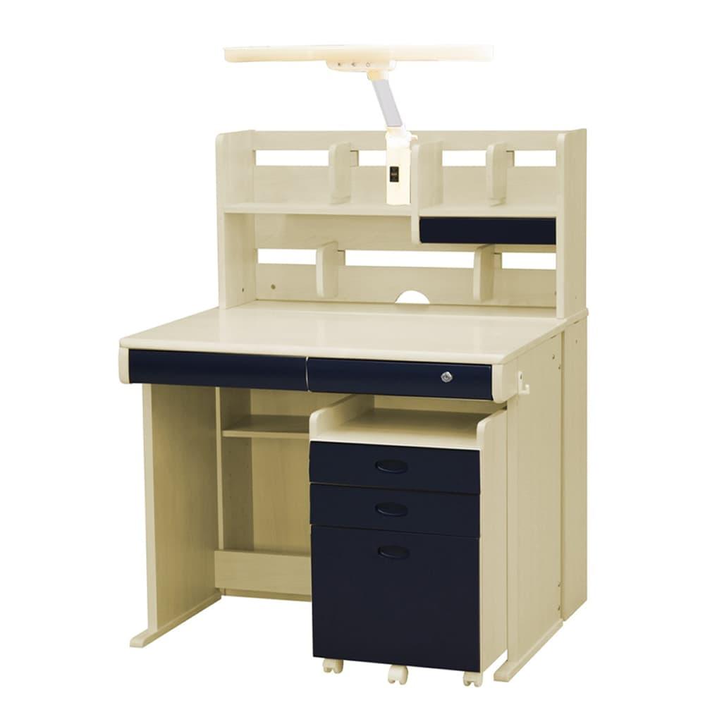組みかえ型デスク ESシリーズ MWD−520TL メープル・ネイビー(MP−NB):ラバーウッドを生かした、木の温かみとやさしさを感じるデザイン