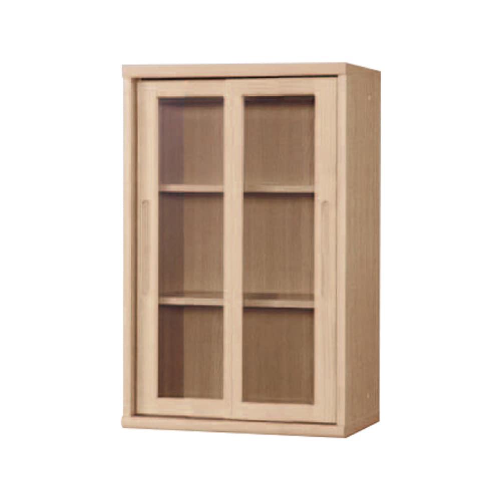 書棚 NOF−60引戸 チェリーナチュラル:安心の日本製