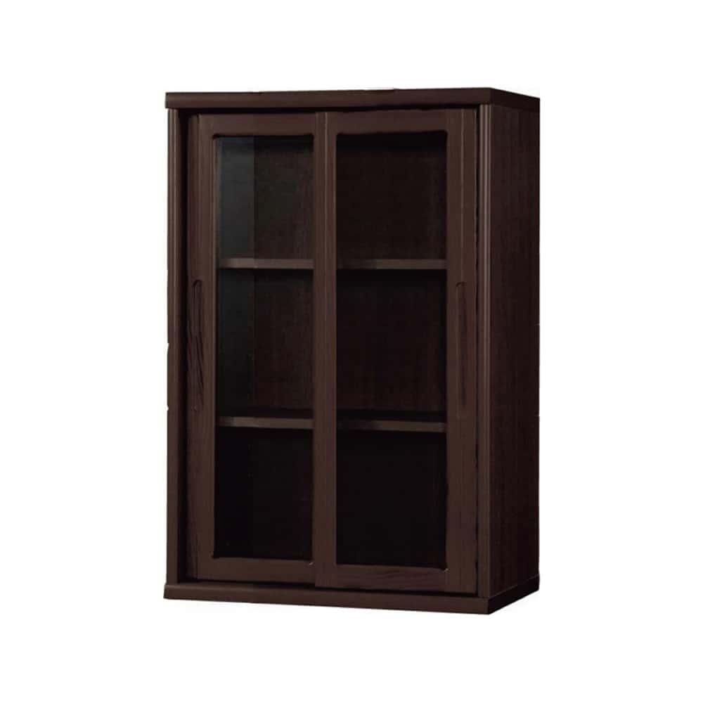 書棚 NOF−60引戸 ウッディウェンジ:安心の日本製