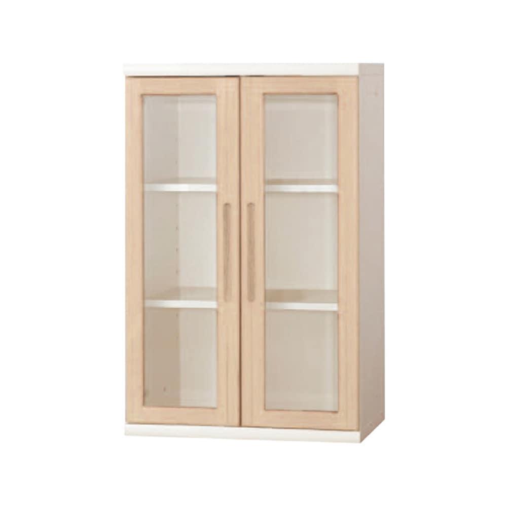書棚 NOF−60開戸 ウッディホワイト:安心の日本製