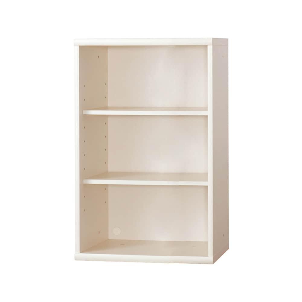 書棚 NOF−60オープン ウッディホワイト:安心の日本製