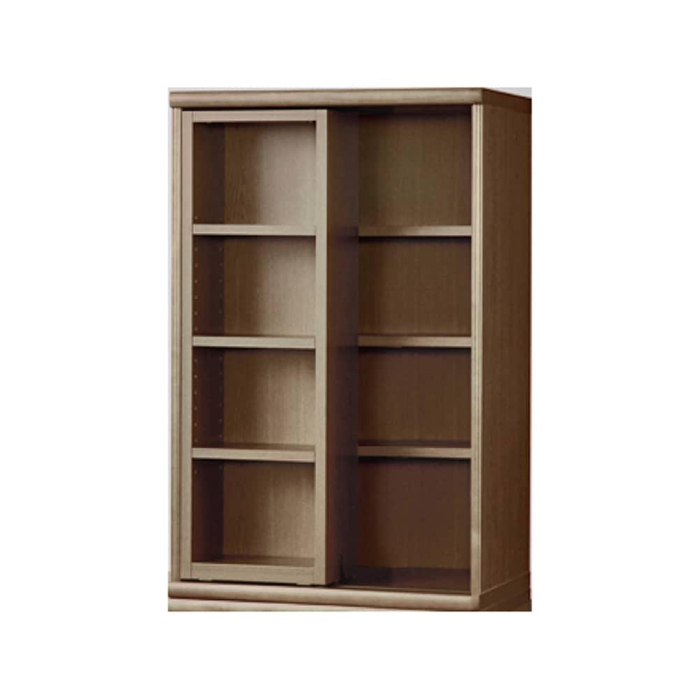 書棚 NOF−60スライドオープン ウォールモカ:安心の日本製