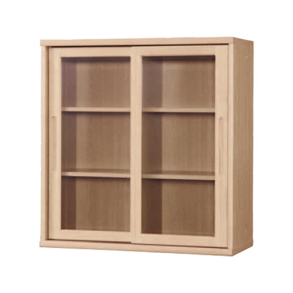 書棚 NOF−90引戸 チェリーナチュラル:安心の日本製