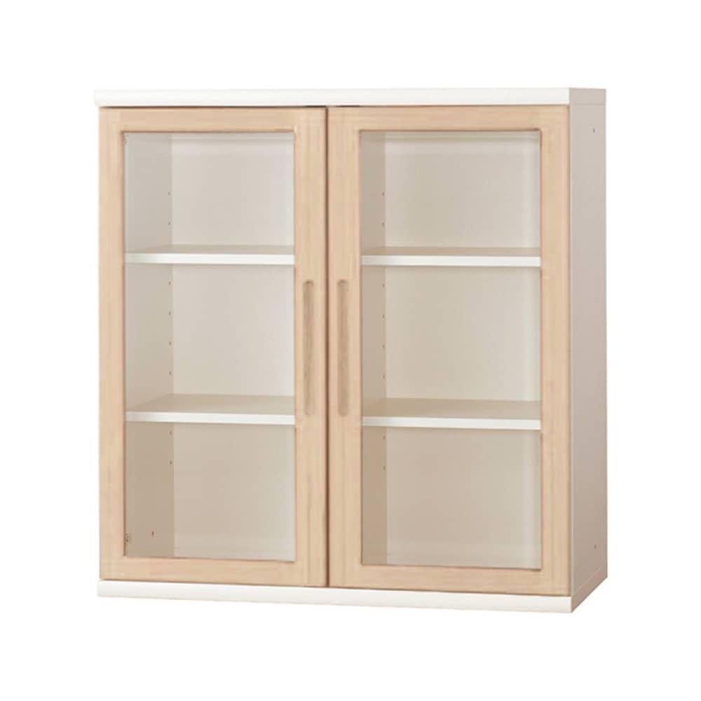 書棚 NOF−90開戸 ウッディホワイト:安心の日本製