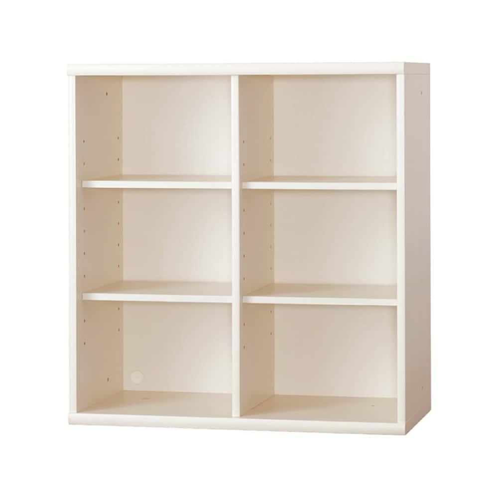 書棚 NOF−90オープン ウッディホワイト:安心の日本製