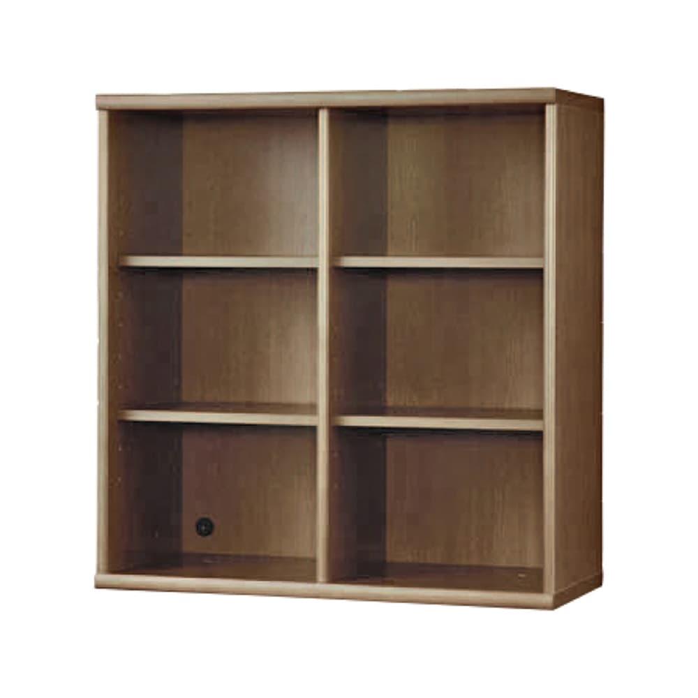 書棚 NOF−90オープン ウォールモカ:安心の日本製
