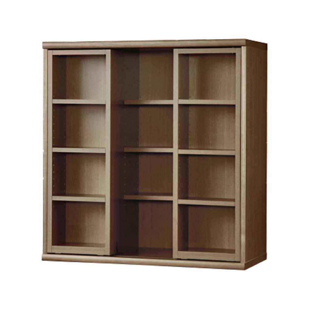 書棚 NOF−90スライドオープン ウォールモカ:安心の日本製