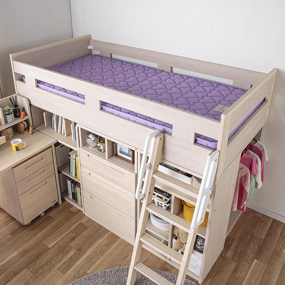 :ベッドは広々サイズ