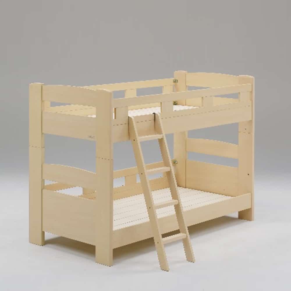 二段ベッド デール フラット 斜めはしご ナチュラル:二段ベッド デール フラット 斜めはしご