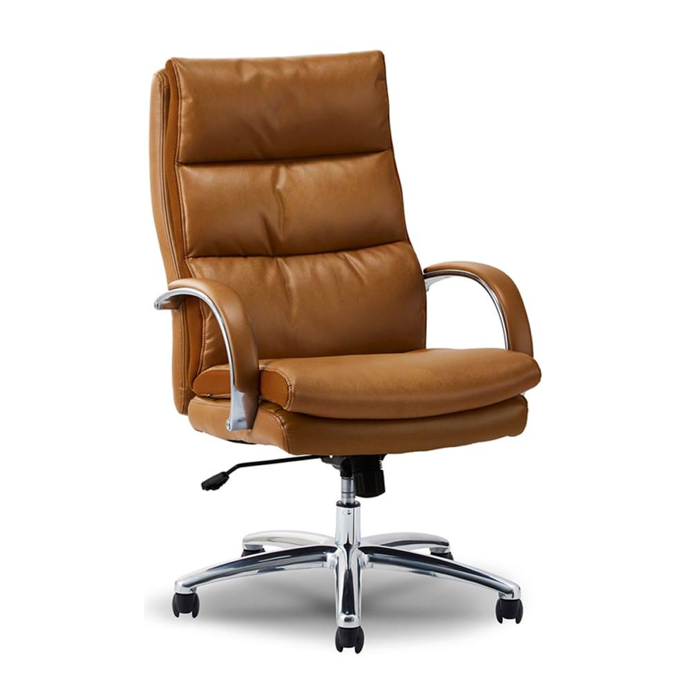 デスクチェア レザーポケットコイルチェア�UハイタイプLBR:ポケットコイル入りの座クッションで座り心地を追求しました