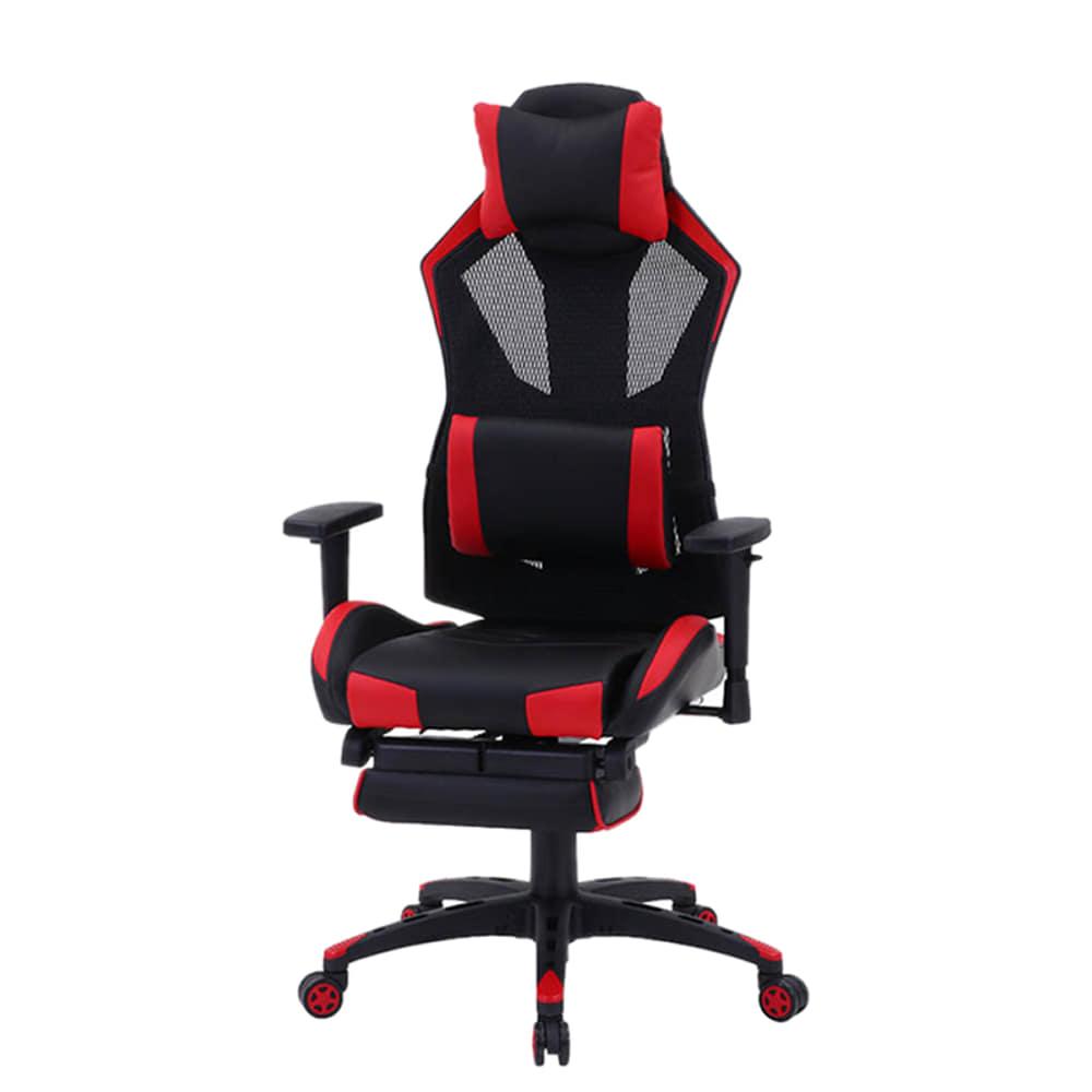 ゲーミングチェア ソアラ�U フット付き RD:長時間のゲーム、オフィスワークも快適にする座り心地と機能