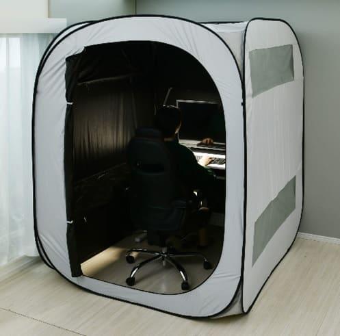 プライベートルームテント PRT−1815(GY):テレワークでも仕事に集中できる空間をつくれます