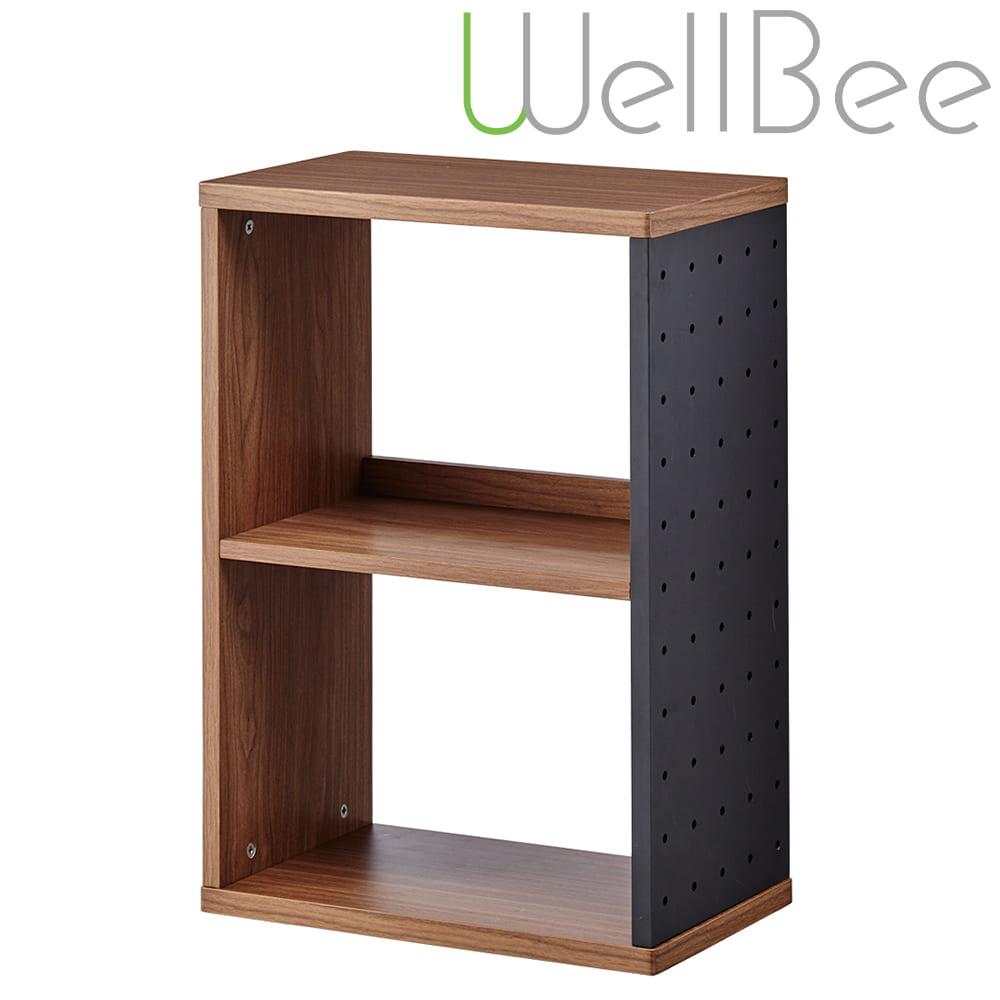 コイズミ シェルフ ウェルビー ODB−423 WO:シェルフは有孔ボード部に小物置き(別売デスクの付属品)の取り付けが可能です。