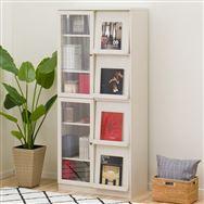 【ニトリ】 フラップ書棚 ビブリオGD80 ホワイトウォッシュ