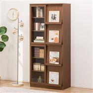 【ニトリ】 フラップ書棚 ビブリオGD80 ミドルブラウン